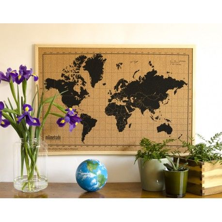 ♡Wereldkaart prikbord♡ Nieuw in de webshop! Leuk als je van reizen houdt om je vakantiefoto's op te bewaren!