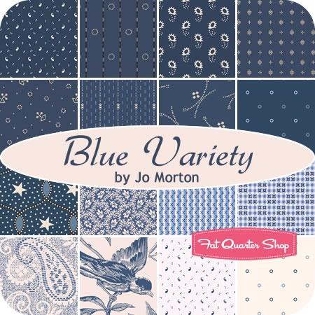 Blue Variety Fat Quarter Bundle Jo Morton for Andover Fabrics #FQSGiftGuide