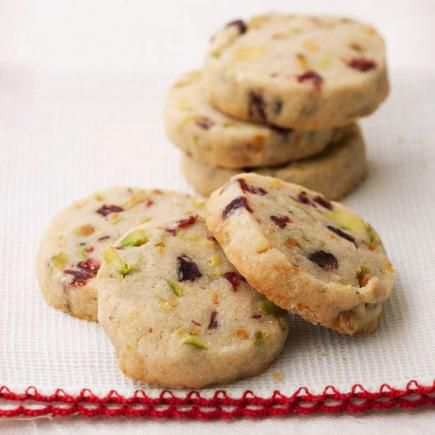 Pistachio Cranberry Icebox Cookies - Flecks of nuts and fruit make these buttery cookies perfect for a holiday cookie exchange or gift box. The recipe comes from the Inn and Spa at Cedar Falls in Logan, Ohio.