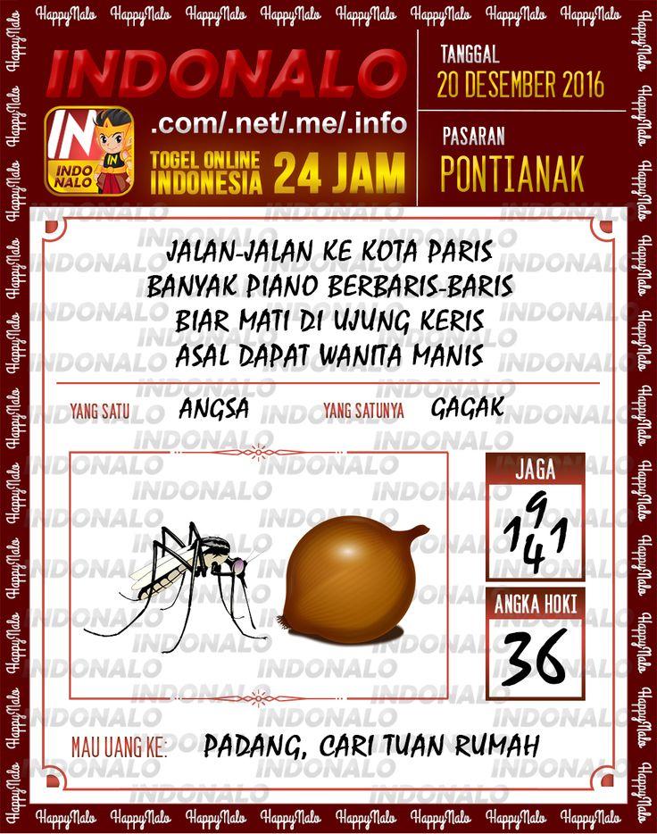 Undian Lotre 4D Togel Wap Online Live Draw 4D Indonalo Pontianak 20 Desember 2016