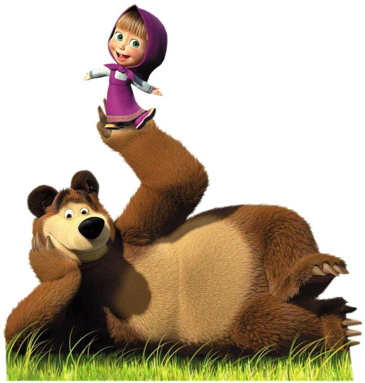 Russian cartoon, Masha and the bear. My daughter loves this show