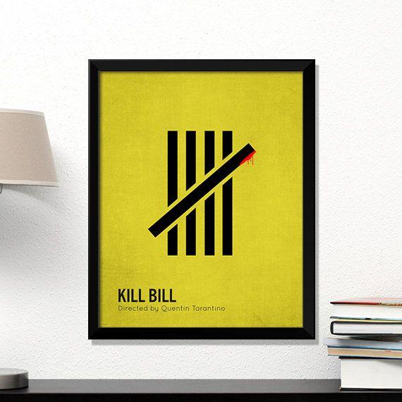 Kill Bill movie poster minimalist cinema Kill by MicrowaveDesigns