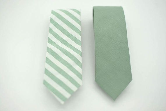 Slim Stripe Dusty Shale Green ties,pattern neck ties,white stripe,shale,dusty shale theme wedding,groomsmen,men dusty shale green accesories