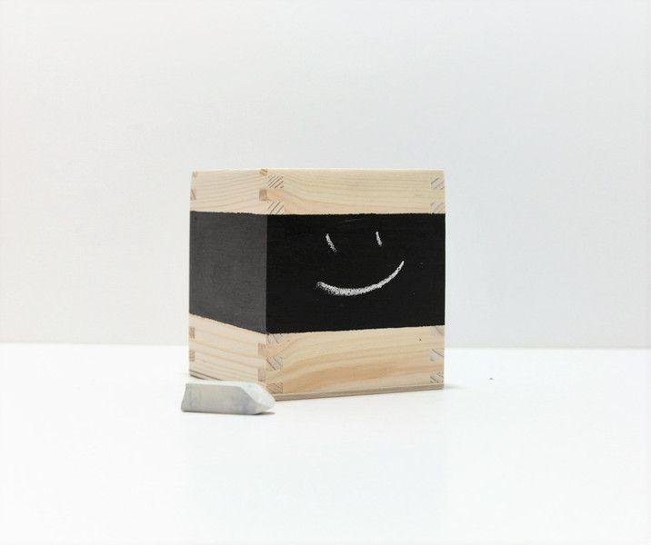 Drewniana skrzynka ręcznie malowana  - KUKUdesign - Dekoracja stołu