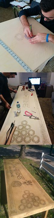 This Guy Made His Own Game of Thrones Beer Pong Table