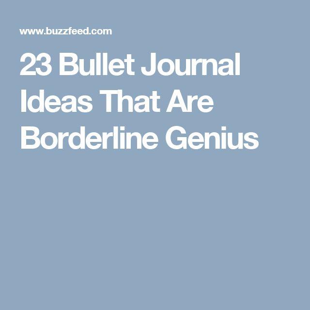 23 Bullet Journal Ideas That Are Borderline Genius