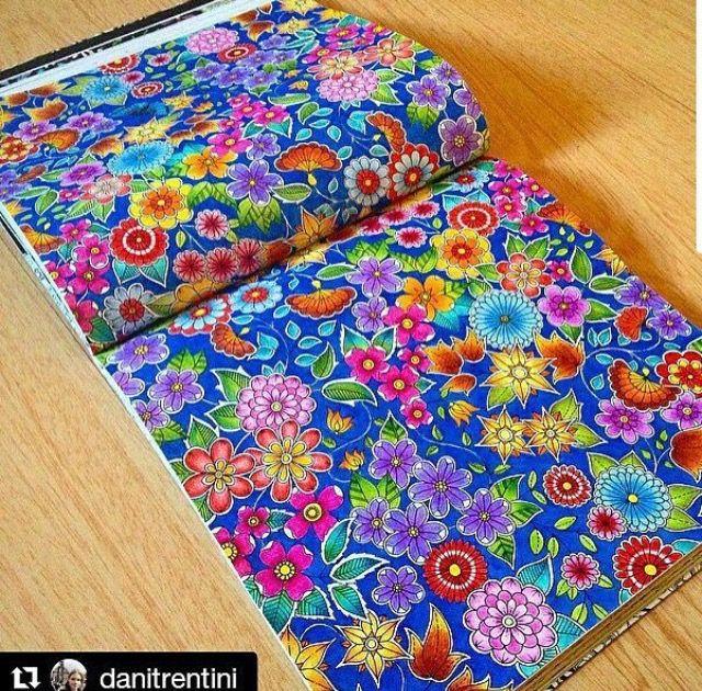 Johanna Basford Secret Garden Gardens Coloring Books Colouring Colour Book Doodles