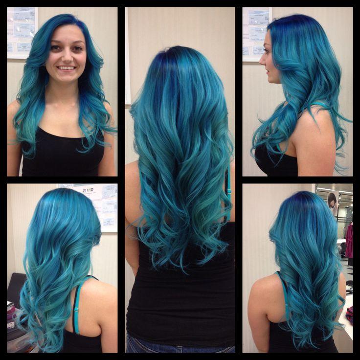 Mermaid Hairstyles this years top mermaid hairstyles Mermaid Hair Bluehair Mermaid Hairstyle Beauty Fasion Ombre
