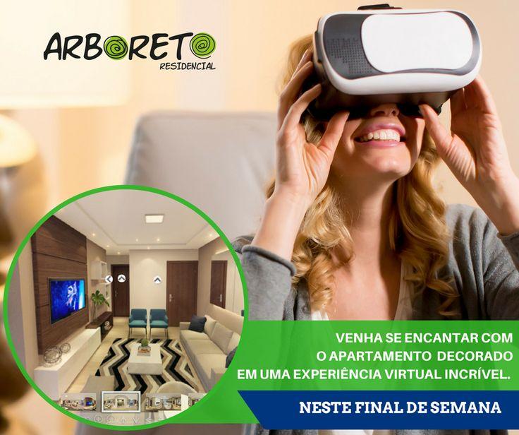 Que tal fazer algo diferente nesse final de semana? Venha conhecer nosso charmoso decorado em um experiência virtual incrível!