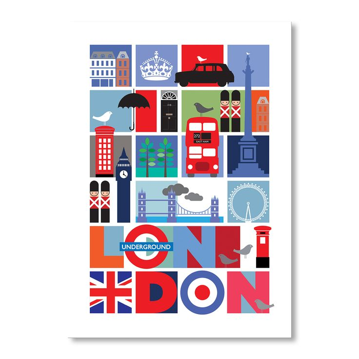 London | A2 Print by Rummage Sale on brandsExclusive