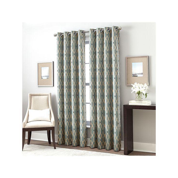Curtainworks Trellis Gateway Room Darkening Curtain, Blue