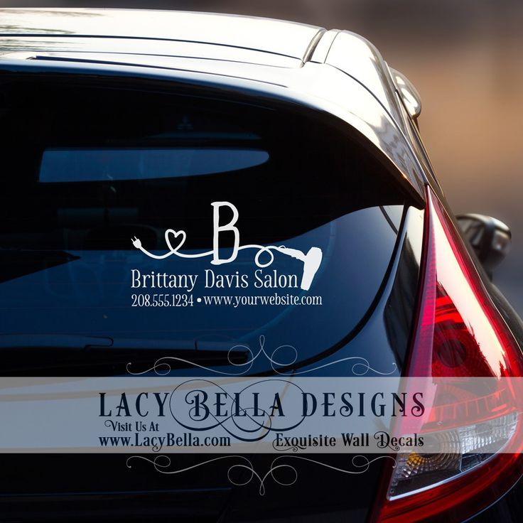 Best Car Decals Images On Pinterest Car Decals Vinyl - Hair stylist custom vinyl decals for car