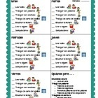 Daily 5 Checklist in Spanish to be used in a 3-brad folder or 3-ring binder.  Each double-sided page will be used for 2 weeks....