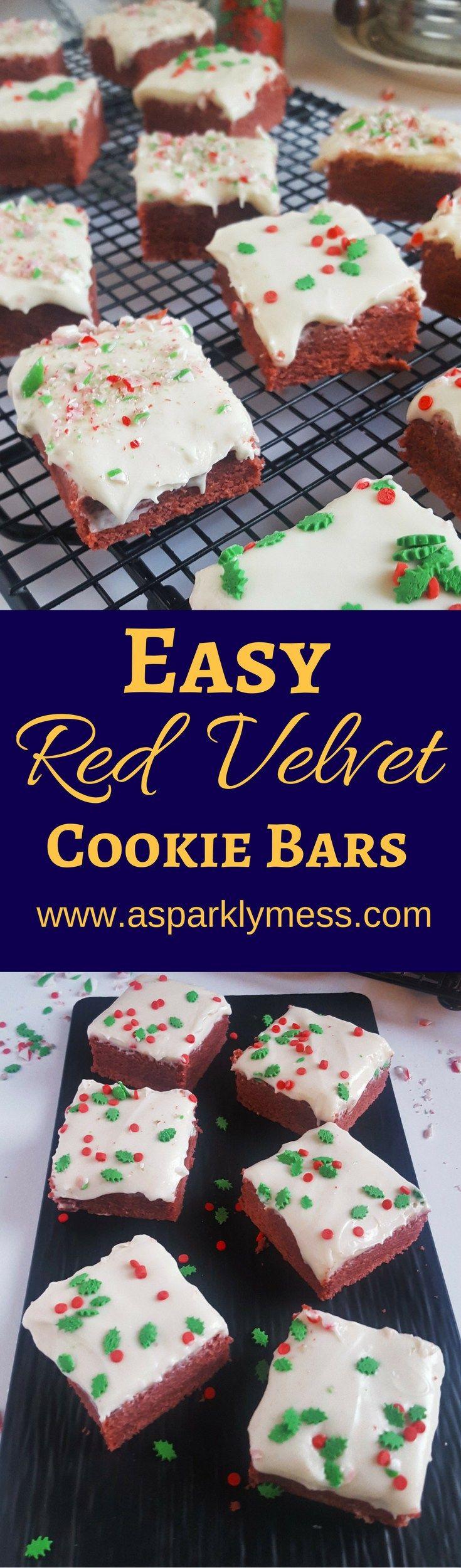 Easy Red Velvet Cookie Bars