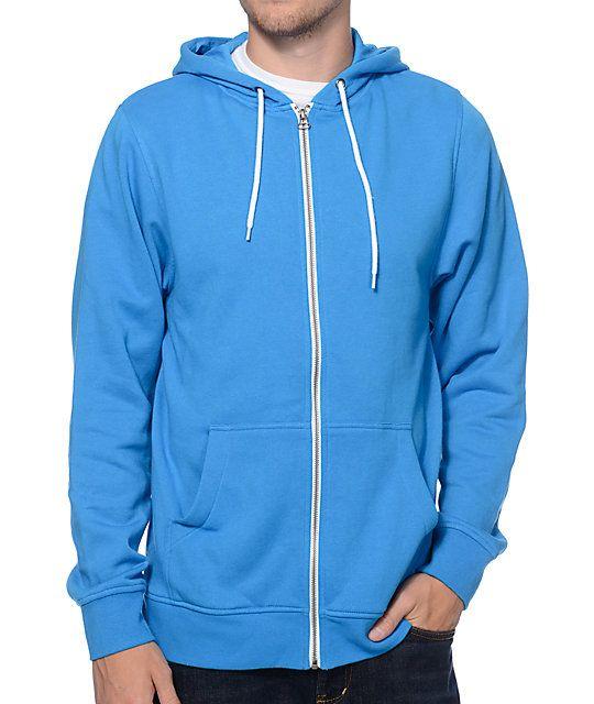 Zine Hooligan Coast Blue Zip Up Hoodie