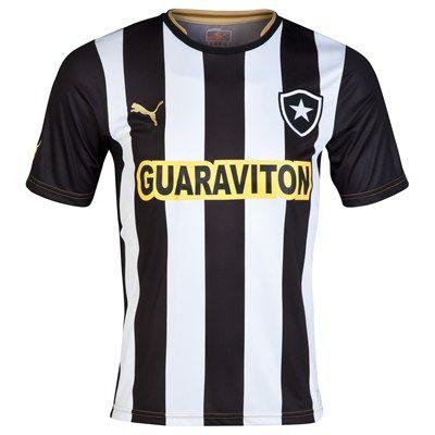 Botafogo 2014 Home Shirt (Black/White). Available from Kitbag.com