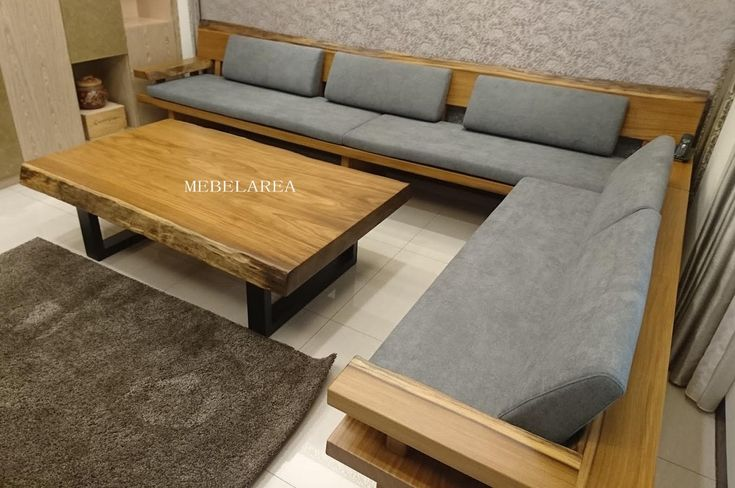 Desain sofa tamu kayu trembesi modern minimalis dan elegan.