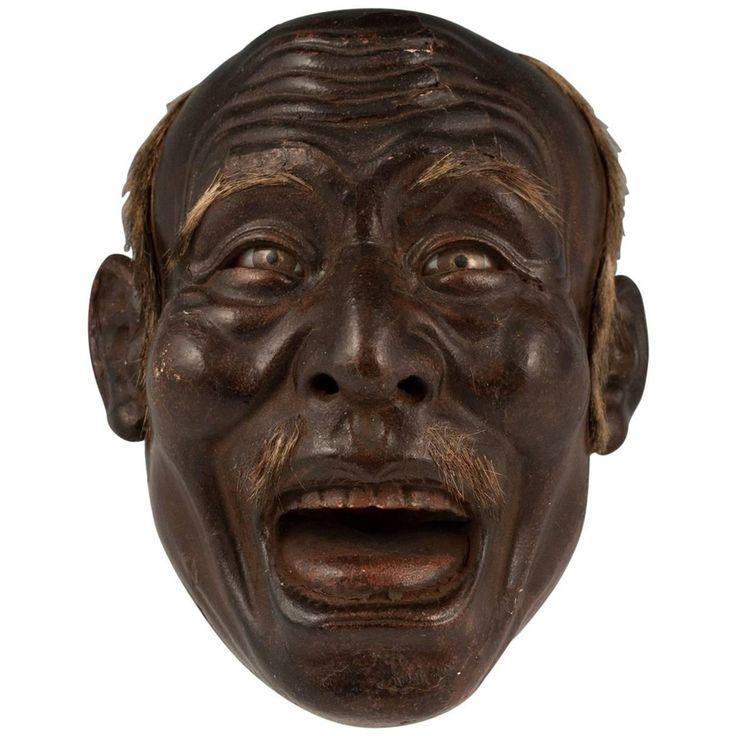 Iki Ningyo 'Living Doll' Face, Meiji Period, Japan