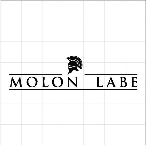 MOLON LABE W/ Spartan Helmet Car Decal Wall by RattleSnakeDecals