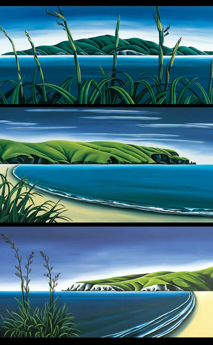Harakeke (Flax) in the New Zealand Landscape - by Diana Adams. Available thru imagevault.co.nz