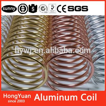 Metal Spiral Coil Binding Supply - 9/16 Aluminum - For all coil binding machine