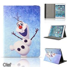 Frozen Disney Olaf Smart PU Leather Folio Case Cover For Apple iPad Mini & Mini2