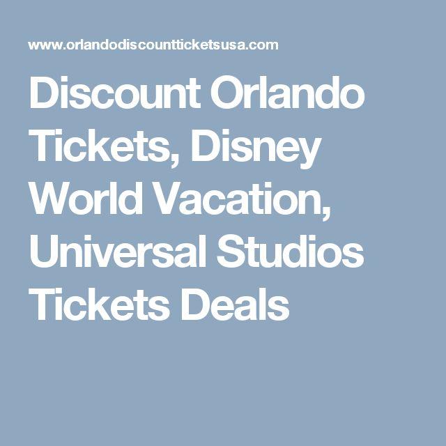 Disney universal studios package deals