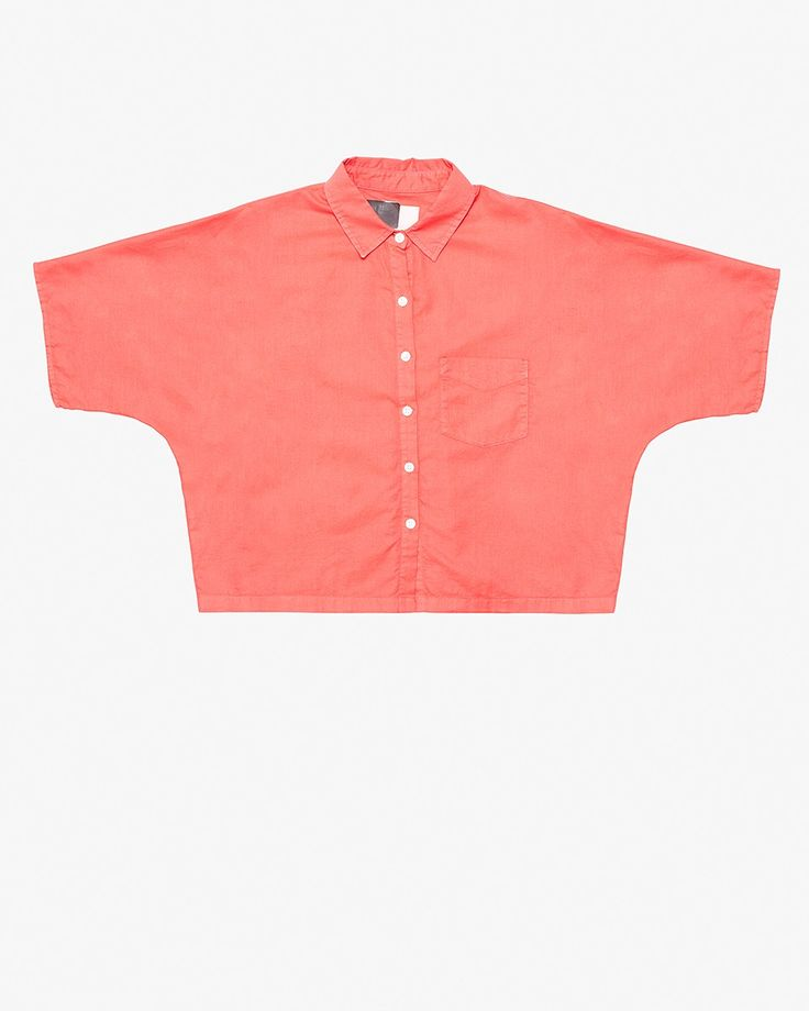 Band Of Outsiders Bastiste Cropped Shirt