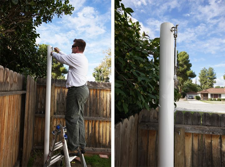 Sail Shade Poles For The Landscape In 2019 Shade Sail