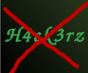 Hackers not welcome graphic.