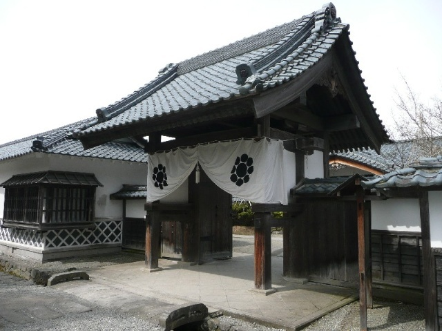 Old gate of Aidsu clan house,Fukushima,Japan @福島県会津若松市会津武家屋敷