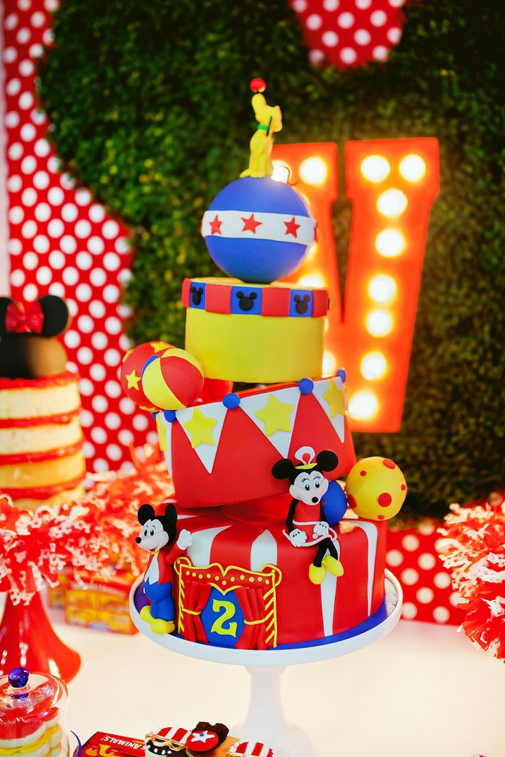 Dazzling Mickey & Minnie Circus Birthday Party Circus