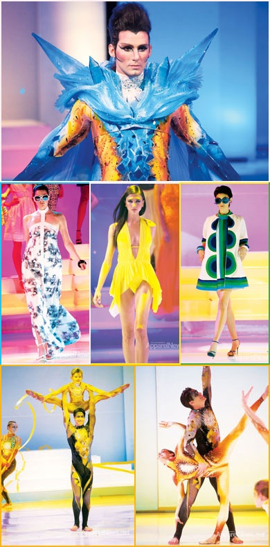 Students took their designs to the runway for Otis College of Art and Design's 30 Years of Fashion Design runway show. Acrobatics and artful design were all the norm at this over the top extravaganza. http://bit.ly/LyAqKg #apparelnews #otis #fashion #show #runway #fashion #news http://www.apparelnews.net: Student
