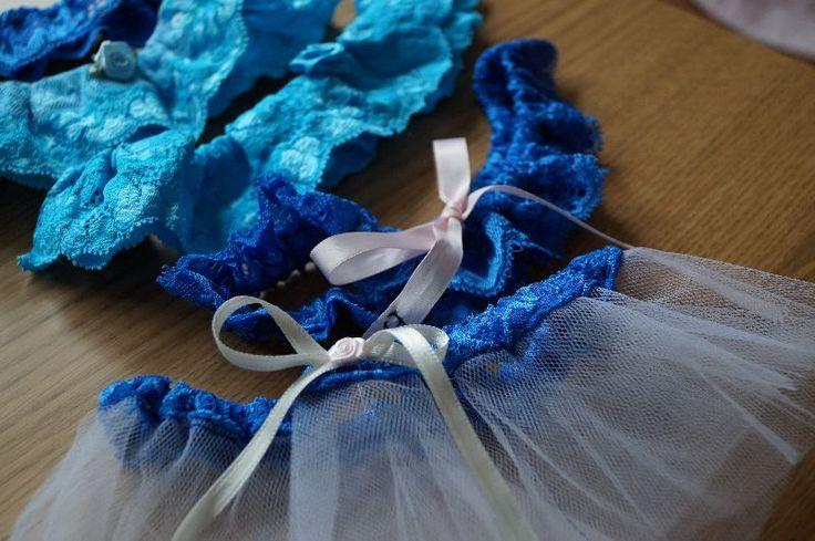 blue hen party podwiązki