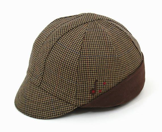 Houndstooth cycling hat, Red Dots Cycling