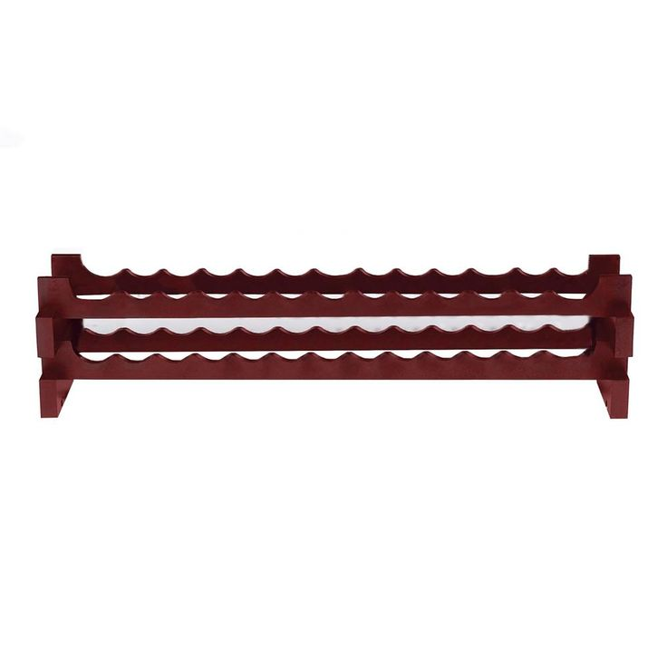26-Bottle Stackable Wine Rack Kit in Mahogany