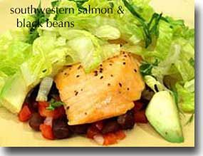 Similar to a delicious recipe my mom makes with chicken and mango black bean salsa