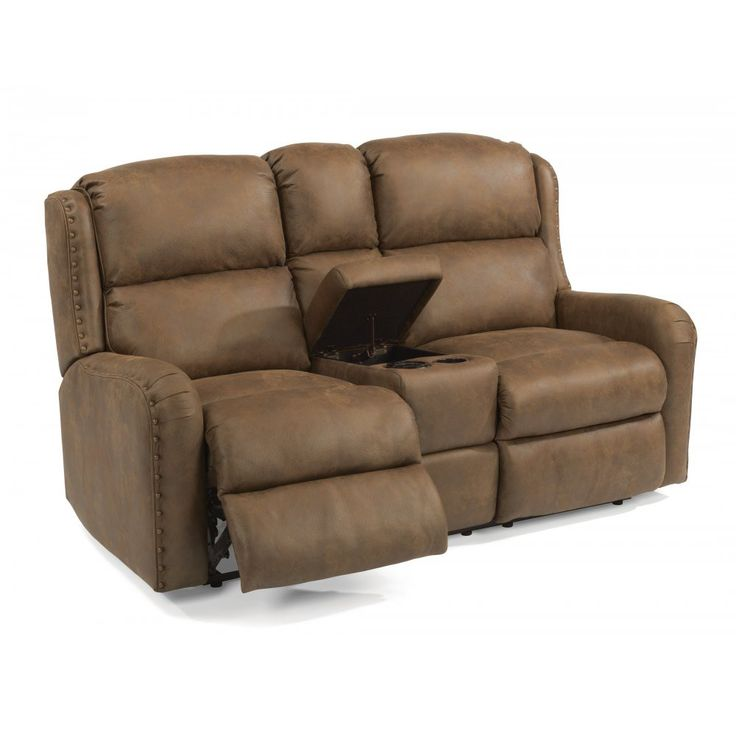 FlexsteelFabric Reclining Loveseat With Console 42 best