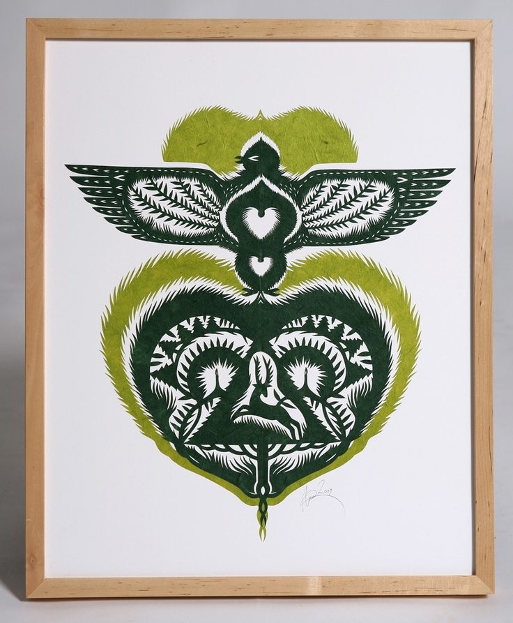 Feathery illustration cut into paper by Anna Garforth. Bird *and* deer bonus pack!