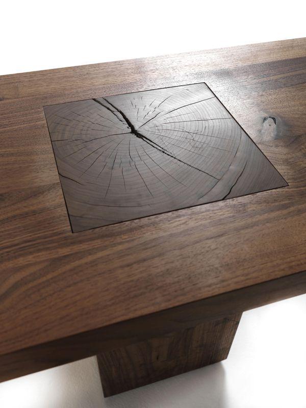 Solid #wood bench BOSS EXECUTIVE by Riva 1920   #design Maurizio Riva, Davide Riva @Riva Industria Mobili