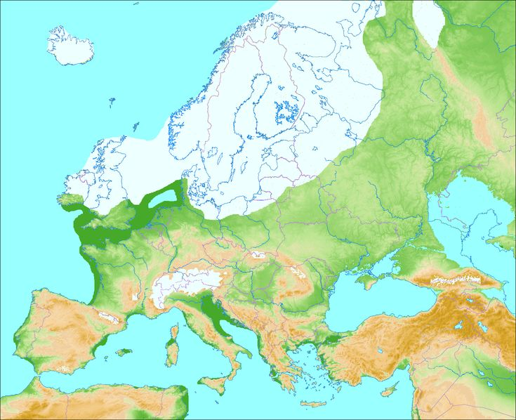 Europe during last glacial period: Weichselian glaciation in Scandinavia and Northern Europe. Ice sheets were at their maximum 25,000-13,000 BP. A large part of what is today the North Sea was dry land, Doggerland, connecting Jutland with Britain until about 6,500 or 6,200 BCE.