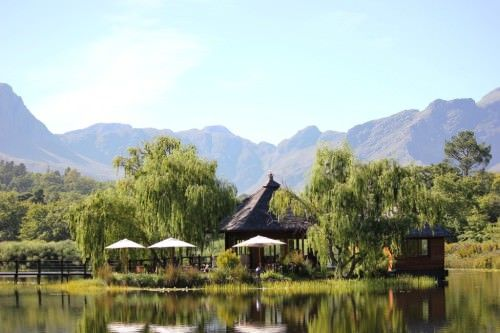 Your next #exploresideways tasting in Stellenbosch is at a boutique winery nestled in the Jonkershoek Valley. Taste beautiful hand-crafted wines from a small island overlooking a damn, which reflects the dramatic mountain range from above.
