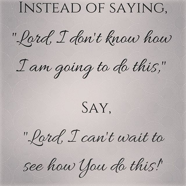 As Joyce Meyer always says: God will never ask us to do something he has not equipped us for. Don't be afraid..just trust.  Be blessed ❤