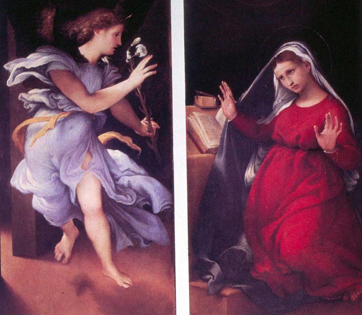 Lorenzo Lotto (1480-1556) Annunciazione at Pianetti Palace