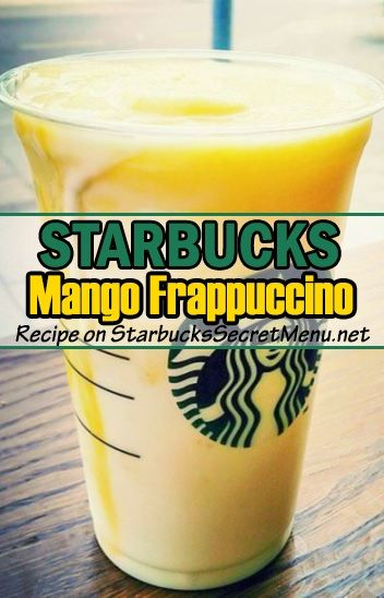Try our new recipe for this delicious Starbucks Mango Frappuccino! ‪#‎StarbucksSecretMenu‬