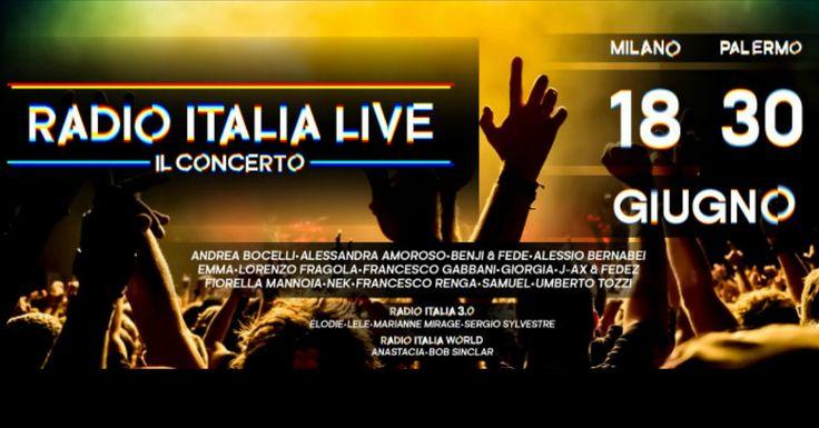 Radio Italia Live – Il Concerto: il cast di Milano e Palermo