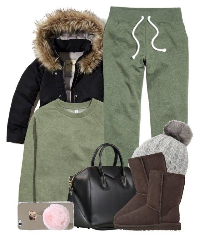 """""""1 1 17"""" by miizz-starburst ❤ liked on Polyvore featuring Hollister Co., H&M, Miss Selfridge and UGG Australia"""