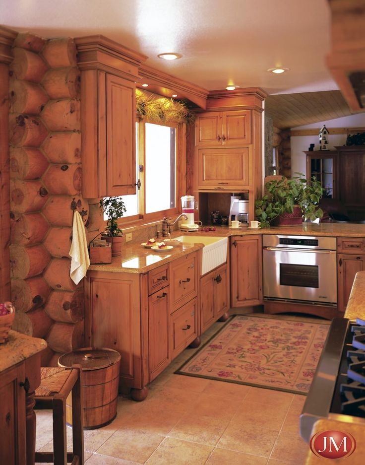 1000 images about kitchen rustic designs for your for Log cabin kitchen countertops