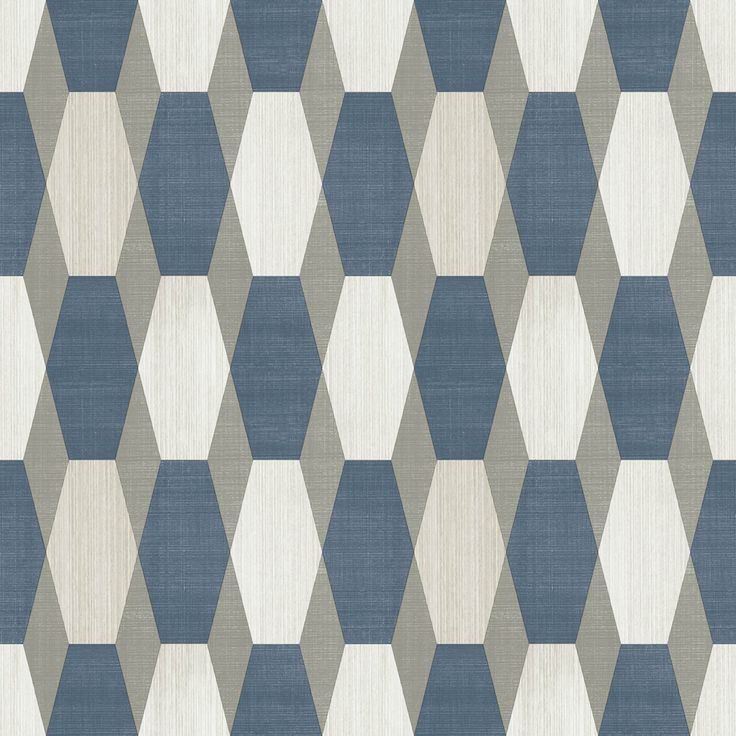 Create a stunning feature wall with this nerva neo retro style geometric wallpaper in blue