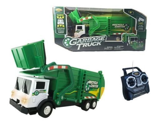 NEW NKOK RC RADIO CONTROL - GREEN GARBAGE TRUCK 13 FULL FUNCTION By NKOK